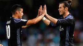 Хамес и Бейл не попали в заявку Реала на матч с Брюгге