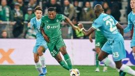 Лига Европы: Сент-Этьен и Вольфсбург не выявили сильнейшего, Лудогорец в меньшинстве разгромил Ференцварош Реброва
