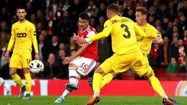 Ліга Європи: Арсенал розтрощив Стандард, Лаціо здолав Ренн під наглядом арбітра з України