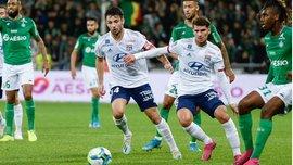 Лига 1: Сент-Этьен на последней минуте победил Лион в Ронском дерби, Лилль потерял очки с Нимом