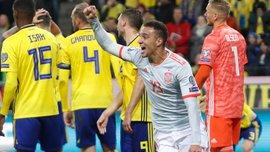 Победная ничья Испании в видеообзоре матча против Швеции