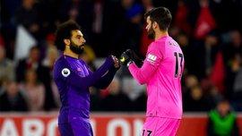 Ливерпуль сможет рассчитывать на Салаха и Алиссона в матче против Манчестер Юнайтед
