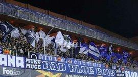 Динамо Загреб – Шахтар: фанати господарів неймовірною підтримкою налаштовували команду на матч
