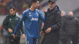 Сарри рассказал, почему заменил Роналду в матче против Локомотива