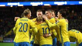 Игроки сборной Швеции присягнули на презентации новой формы