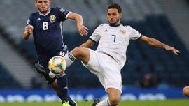 Ефектні голи конкурента Шведа та хавбека АПОЕЛа у відеоогляді матчу Кіпр – Шотландія – 1:2