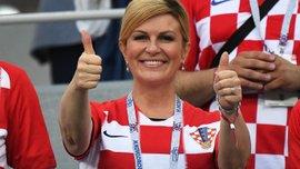 Президентка Хорватии вдохновила команду на камбэк со Словакией – видео с фанатской трибуны