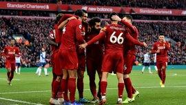 Ливерпуль – Брайтон – 2:1 – видео голов и обзор матча