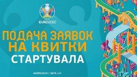 Стартує процес подання заявок на квитки на матчі Євро-2020