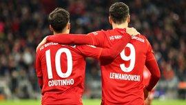 Устроенный Коутиньо карнавал голов и ассистов в видеообзоре матча Бавария – Вердер – 6:1