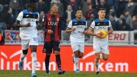 Гол Малиновского в видеообзоре матча Болонья – Аталанта – 2:1