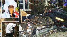 Конкурент Ярмоленко Антонио разбил спорткар за 210 тысяч фунтов – вингер въехал в дом в костюме снеговика