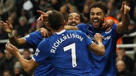 """Друга поспіль перемога """"ірисок"""" під керівництвом Анчелотті у відеоогляді матчу Ньюкасл – Евертон – 1:2"""