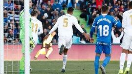 Дубль Варана и впечатляющий забег Модрича на пол поля в видеообзоре матча Хетафе – Реал – 0:3