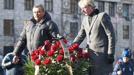 Михайличенко и другие динамовцы почтили память Лобановского