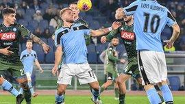 Неуклюжая игра Оспины и юбилейный гол Иммобиле в видеообзоре матча Лацио – Наполи – 1:0