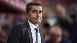 Вальверде не смог сдержать слез во время прощания с игроками Барселоны