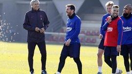 """Сетьен сжег взглядом Месси на тренировке Барселоны – наставника """"блаугранас"""" заставили отбирать мяч"""