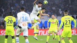 Лига 1: Монако уступил Страсбуру, Марсель потерял очки в поединке с Анже, дубль Хазри принес победу Сент-Этьену