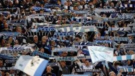 """Рома – Лаціо: фанати """"орлів"""" підготували неймовірний перфоманс, відтворивши легендарну фреску Мікеланджело"""