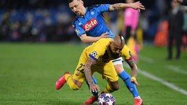 Наполи – Барселона: Бускетс и Видаль не помогут в ответном матче – чилиец получил бессмысленное удаление
