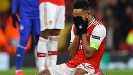 Обамеянг ледь не заплакав, коментуючи свій фатальний промах у матчі з Олімпіакосом – емоційне відео