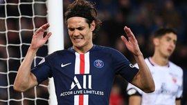 Кавані відзначився божевільним промахом у матчі чемпіонату Франції – фейл розсмішив навіть гравців ПСЖ