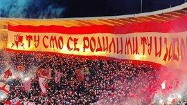 Фанаты Црвены Звезды устроили грандиозное фаер-шоу на дерби с Партизаном – впечатляющее видео