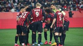 Лига 1, матчи субботы: Ницца благодаря дублю Дольберга вырвала победу в матче с Монако, Тулуза снова проиграла