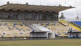 На стадіоні Вереса обвалилася трибуна