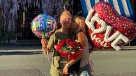Зинченко поразил любимую роскошным букетом – Седан отметила усилия жениха