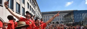ЧМ-2018: фанаты Бельгии устроили невероятный прием своей команде после бронзы Мундиаля