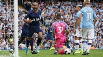 Манчестер Сіті – Тоттенхем: Зінченко двічі міг забивати в гольовій перестрілці, де Брюйне божить