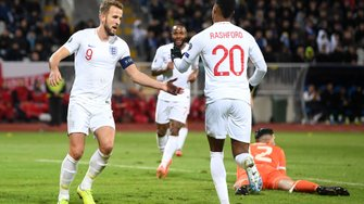 """Англія розгромила Косово: перемога """"Трьох левів"""" на класі, день британських рекордів і готовність косоварів до Євро-2020"""