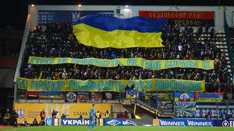 Україна – Естонія: яскрава підтримка трибун, гімн з мурашками для дебютанта, подяка героя – найкращі кадри з Запоріжжя