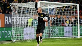 Холанд оформил хет-трик за 20 минут в первой игре за Боруссию Д – дебют года в видеообзоре матча против Аугсбурга