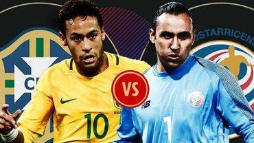 Бразилия – Коста-Рика: онлайн-трансляция матча ЧМ-2018 – как это было