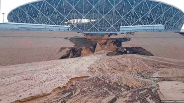 ЧМ-2018: стадион в Волгограде подмыло первым же ливнем