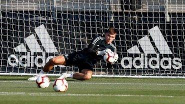 Лунин провел первую тренировку в Реале и поздравил Бейла с Днем рождения