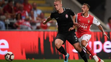 Заря сыграла вничью против Браги и вышла в плей-офф Лиги Европы