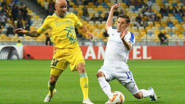 Динамо – Астана: стартовые составы на матч Лиги Европы