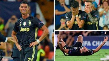 Валенсия – Ювентус: Роналду заработал свое первое в истории ЛЧ удаление – спорное решение судьи и слезы игрока