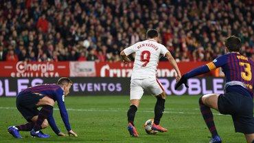 Севілья впевнено перемогла Барселону в першому чвертьфіналі Кубка Іспанії