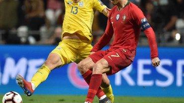 Миколенко ответил на слова Роналду, который обвинил украинца в слишком грубой игре в матче Португалия – Украина