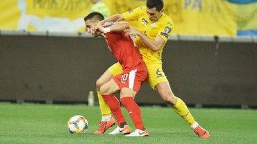 УЕФА наказал Украину за нарушения в матче против сборной Сербии