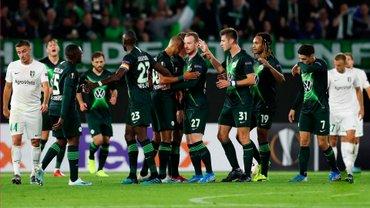Олександрія зазнала поразки від Вольфсбурга в дебютному матчі у Лізі Європи