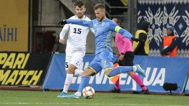 Ярмоленко – про перемогу над Естонією: Ви бачили, куди я вдарив? М'яч за стадіоном опинився