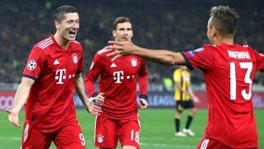 Баварія впевнено перемогла АЕК, Чигринський відіграв повний матч