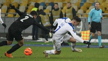 Динамо – Яблонец: киевляне быстро пропускают гол в матче Лиги Европы