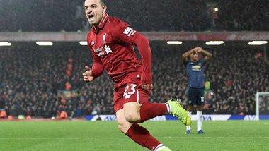 Ливерпуль уверенно победил Манчестер Юнайтед благодаря дублю Шакири и вернулся на вершину АПЛ